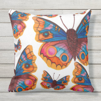 Butterflies Fluttering Throw Pillow