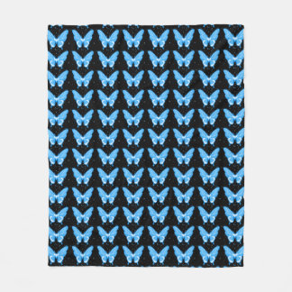 Butterflies Fly Free_Blue Too_Fleece_Blanket-M Fleece Blanket