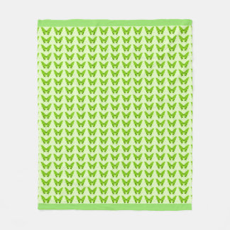 Butterflies Fly Free_Green_Fleece_Blanket-M Fleece Blanket