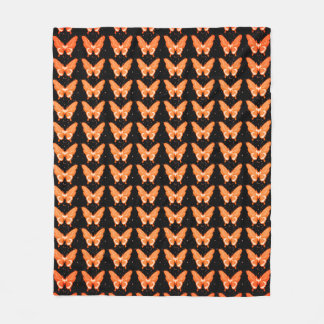 Butterflies Fly Free_Peach_Fleece_Blanket-M Fleece Blanket
