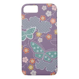 Butterflies flying among Japanese Sakura Flowers iPhone 7 Case