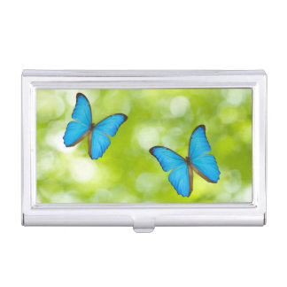Butterflies flying business card holder