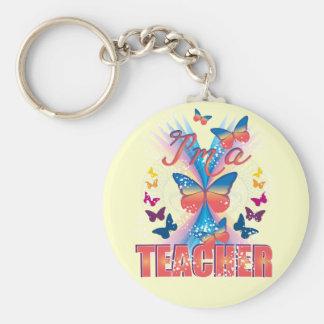 Butterflies I'm a Teacher Keychain