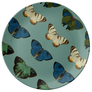 Butterflies in Blue Porcelain Plates