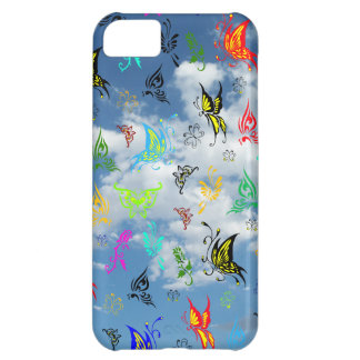Butterflies in Clouds Cover For iPhone 5C