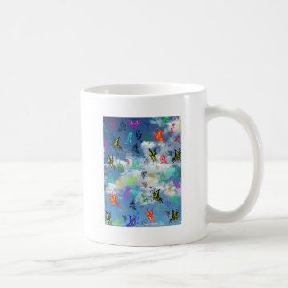 Butterflies in Clouds Classic White Coffee Mug