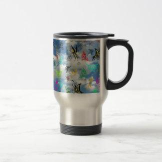 Butterflies in Clouds Travel Mug