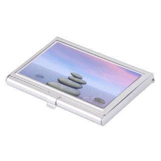 Butterflies in flight in a Zen landscape Business Card Holder
