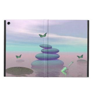 Butterflies in flight in a Zen landscape iPad Air Cover