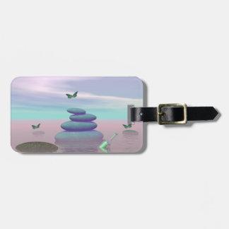 Butterflies in flight in a Zen landscape Luggage Tag