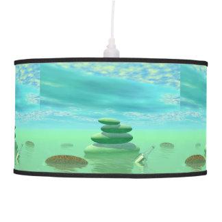 Butterflies in flight in a Zen landscape Pendant Lamp