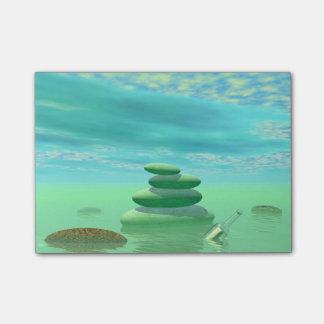 Butterflies in flight in a Zen landscape Post-it® Notes