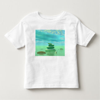 Butterflies in flight in a Zen landscape Toddler T-shirt