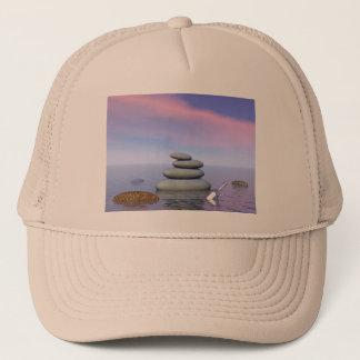 Butterflies in flight in a Zen landscape Trucker Hat