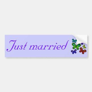 Butterflies in Flight Just Married Bumper Sticker