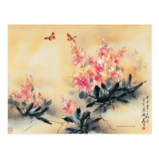Butterflies in Spring Postcard