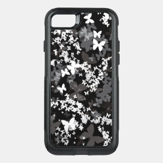 Butterflies in white-gray-black color <3 OtterBox commuter iPhone 8/7 case