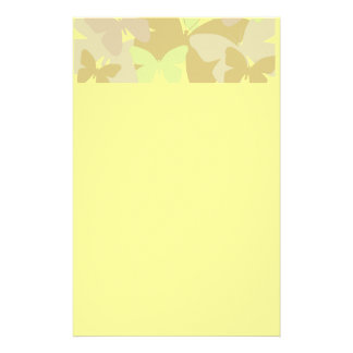 Butterflies in yellows stationery
