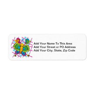 Butterflies Custom Return Address Labels