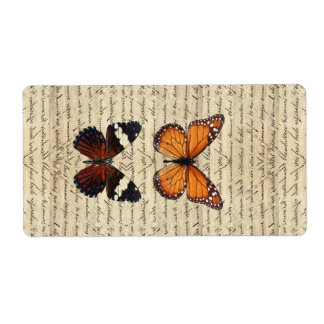 butterflies personalized shipping labels