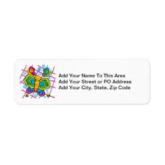 Butterflies Return Address Labels