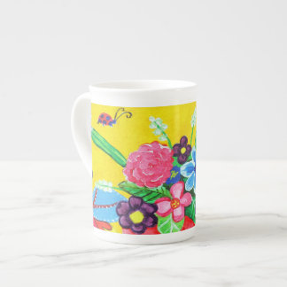 Butterflies & Ladybugs Bone China Mug