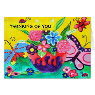 Butterflies & Ladybugs Thinking Of You Card