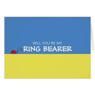 Butterflies & Ladybugs Will You Be My Ring Bearer Greeting Card