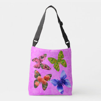 Butterflies Made From Flowers, Crossbody Bag