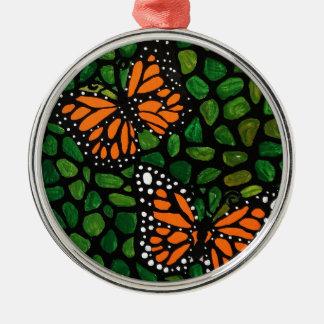 butterflies metal ornament