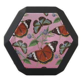 butterflies mix pink black bluetooth speaker
