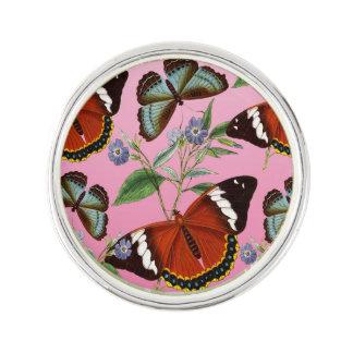 butterflies mix pink lapel pin