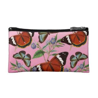 butterflies mix pink makeup bag