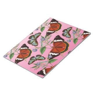butterflies mix pink notepad