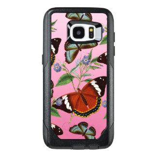 butterflies mix pink OtterBox samsung galaxy s7 edge case