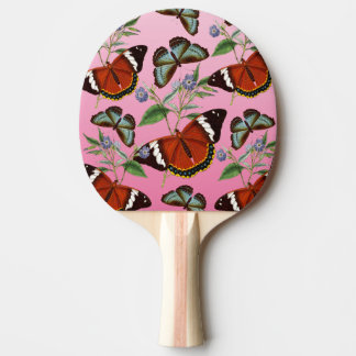 butterflies mix pink ping pong paddle