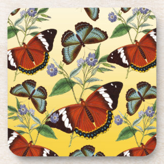 butterflies mix yellow coaster