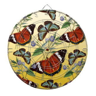 butterflies mix yellow dartboard