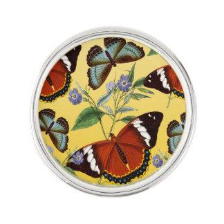 butterflies mix yellow lapel pin