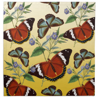 butterflies mix yellow napkin