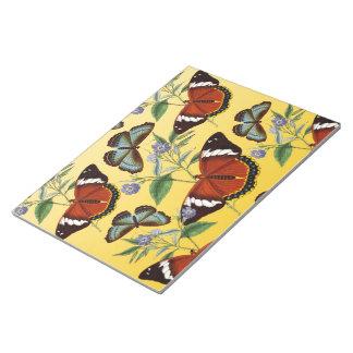 butterflies mix yellow notepad