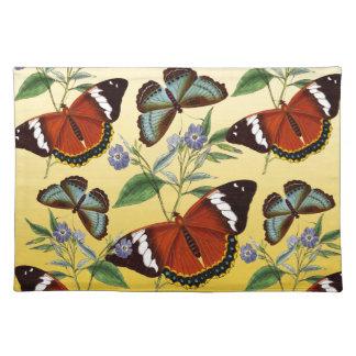butterflies mix yellow placemat