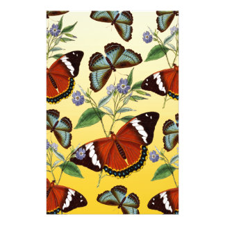 butterflies mix yellow stationery