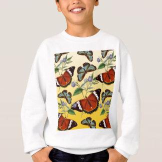butterflies mix yellow sweatshirt
