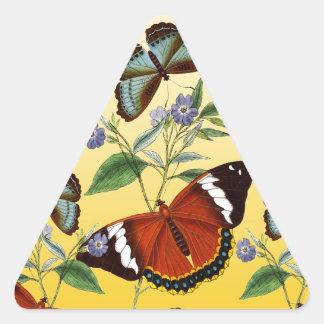 butterflies mix yellow triangle sticker