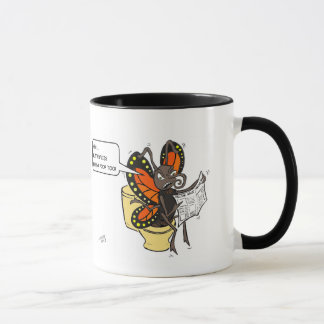 Butterflies need to poop too! mug