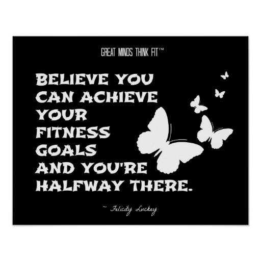 Butterflies of Fitness Motivation: Black White 016 Posters