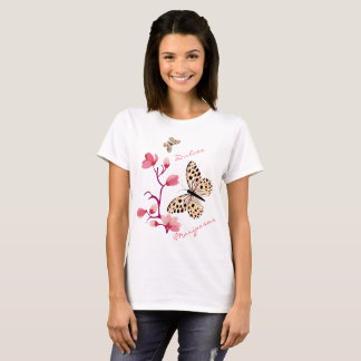 Butterflies of spring in rose and candy T-Shirt