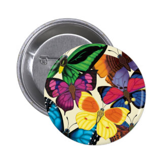 Butterflies of the World 2 Inch Round Button