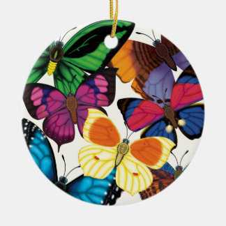 Butterflies of the World Ceramic Ornament